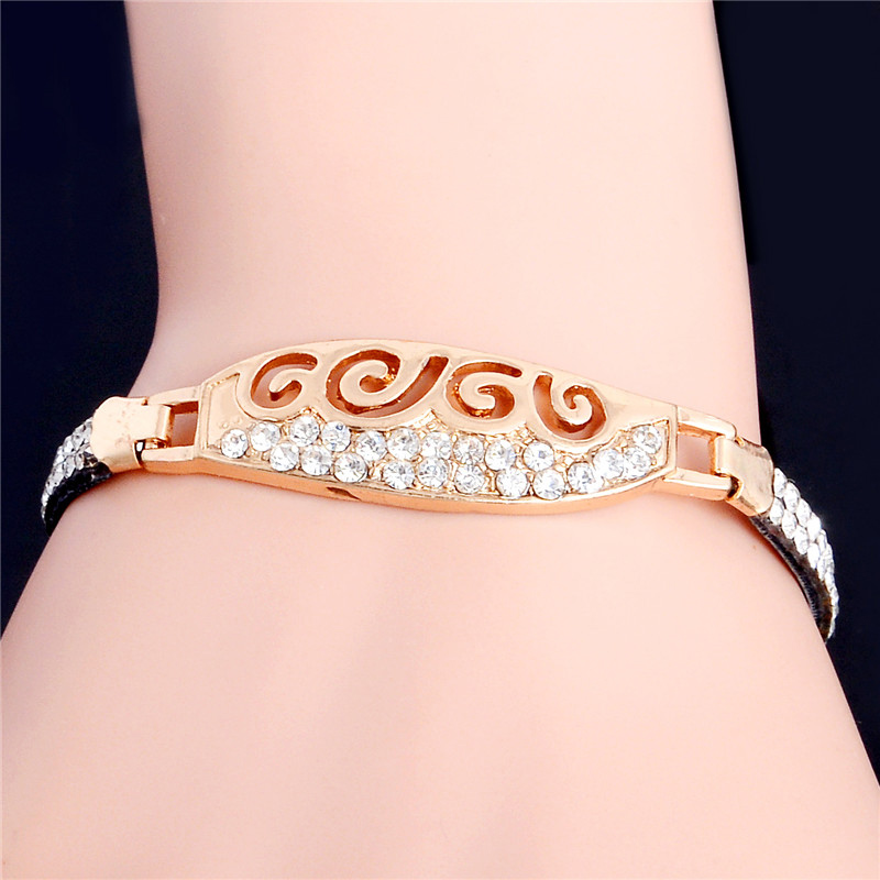 LUCKY YEAR 2016 New Brand Women cheap price Bracelet Gold Color CZ Charm Bracelet For Women Wedding Jewelry Gift(China (Mainland))