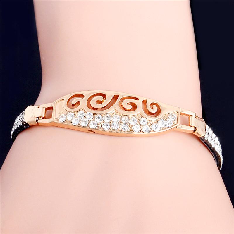 2016 New Brand Women cheap price Bracelet Gold Plated CZ Charm Bracelet For Women Wedding Jewelry Gift(China (Mainland))