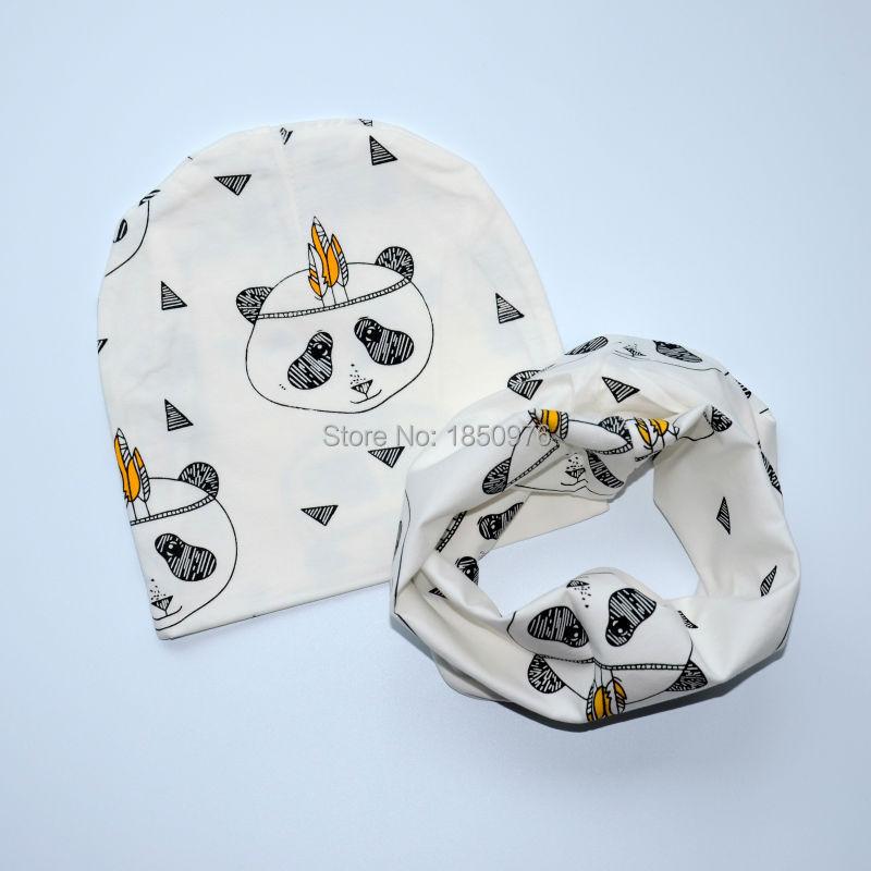 New-Arrival-Cute-Baby-Boys-Girl-Newborn-0-2Y-Cotton-Hat-Scarf-Set-Bear-Stripe-Donut (5).jpg