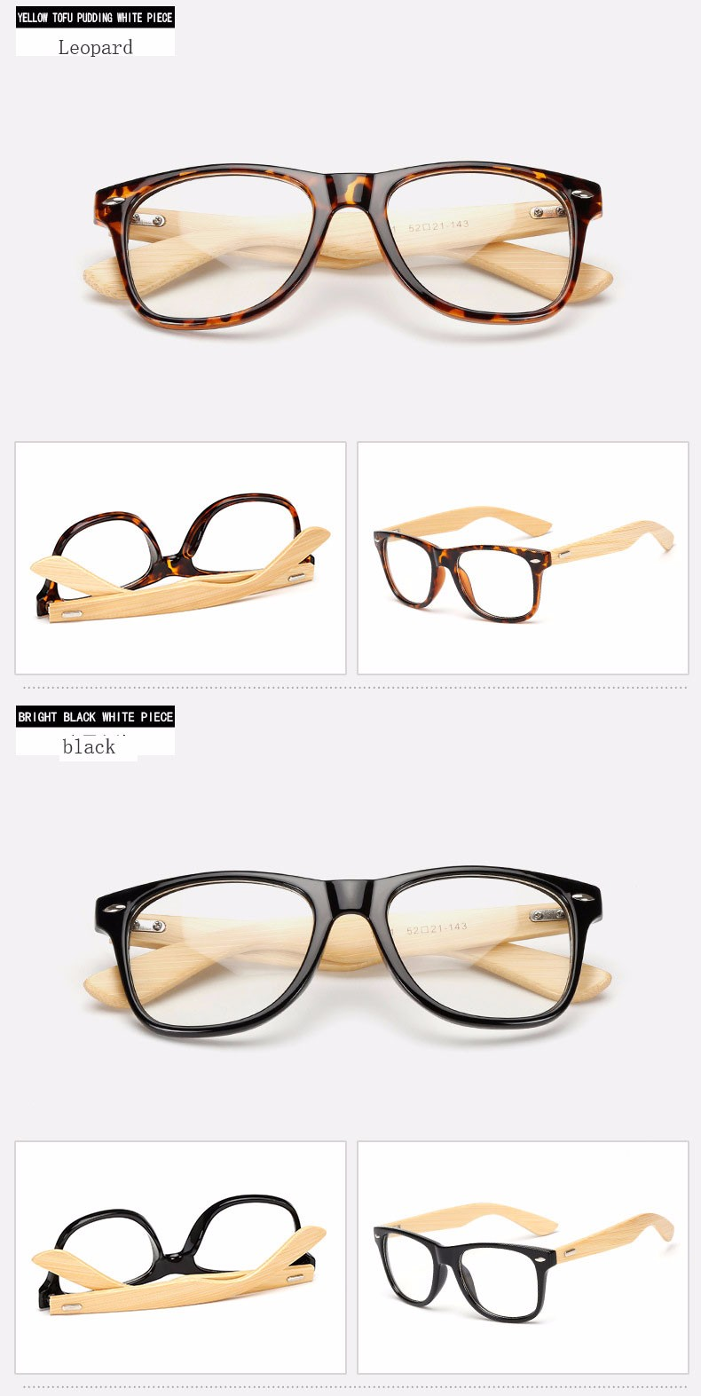 Mens Wooden Square Sunglasses Bamboo Wood Temple Hipster ...