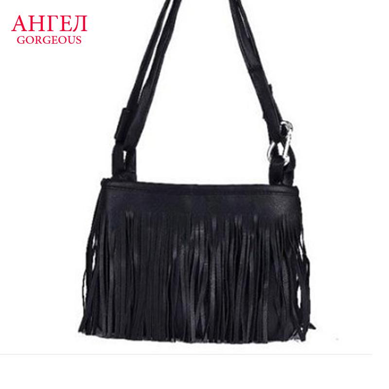 2016 Brand New Evening Clutch Bag Women Handbags Fringe Tassel Leather Shoulder Bag Fashion Female Brand Women Messenger Bags(China (Mainland))