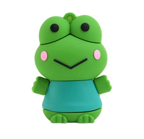 8GB 16GB 32GB 64GB Cartoon Pretty Frog USB 2.0 flash drive memory pen disk(China (Mainland))