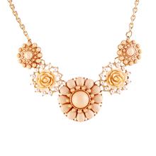 Fashion New 2014 Jewelry Ethnic Flower Shape Imitation Rhinestone Necklace Collar Choker Necklace  For Women(China (Mainland))