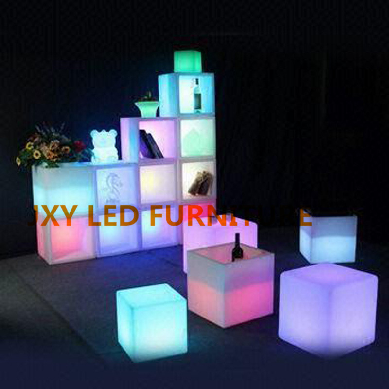 30*30*30cm, led cube, led cube chairs, led furniture RGB led cube(China (Mainland))