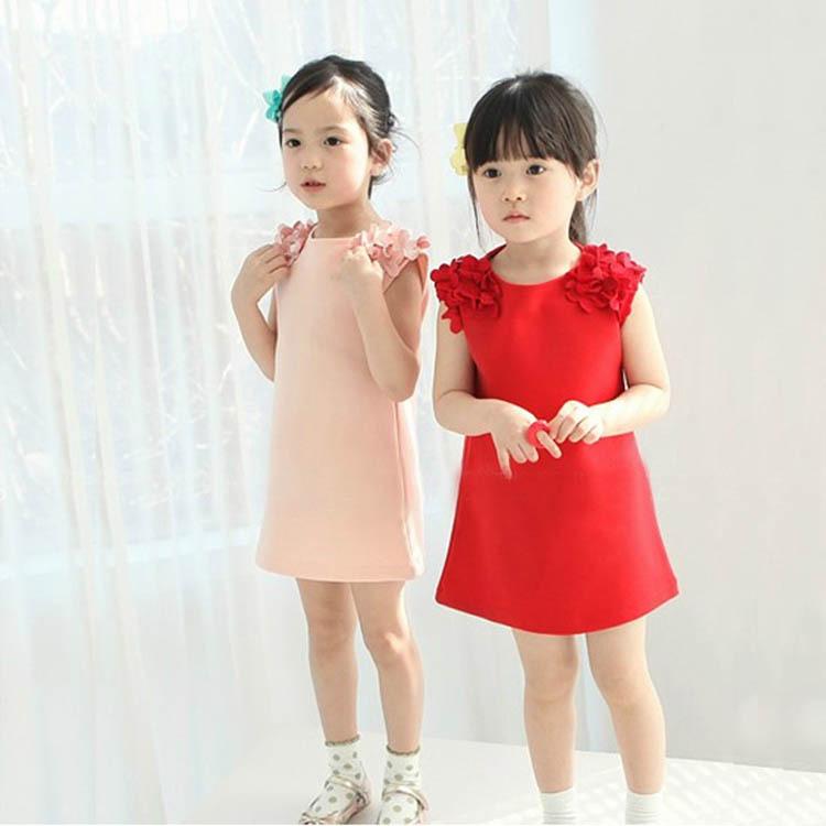 Гаджет  Hot Summer Kids Girls  Flower Sleeveless Princess Dress Party Clothes None Детские товары