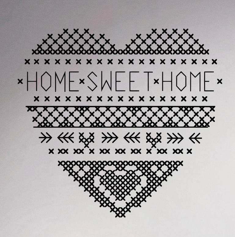 Online get cheap interior decorating quotes aliexpress for Cross stitch wall mural