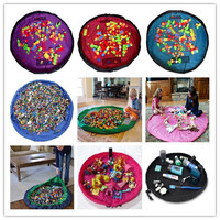 Portable Kids Children Infant Baby Play Mat Large Storage Bags Toys Organizer Blanket Rug Box for Baby toy