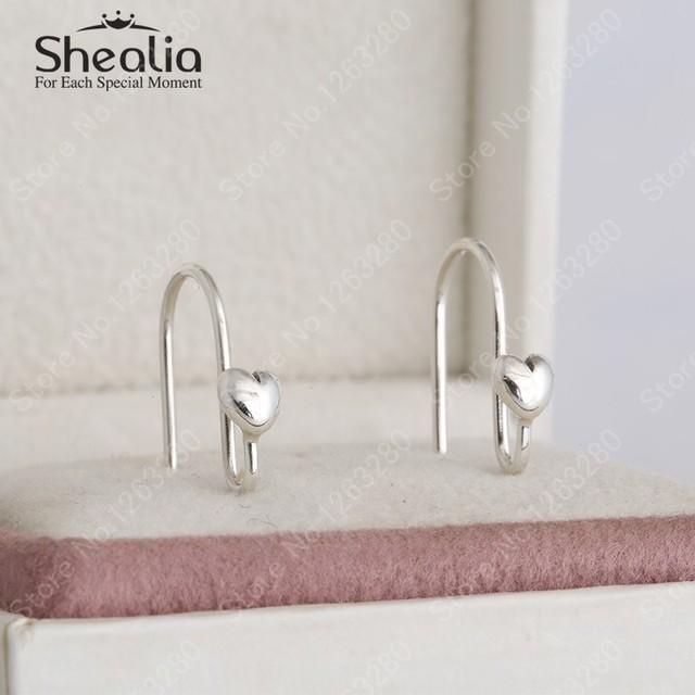 2015 весной новый 925 стерлингового серебра в форме сердца любви серьги крючки женщины серьги DIY аксессуары европейский ювелирных украшений EAR008