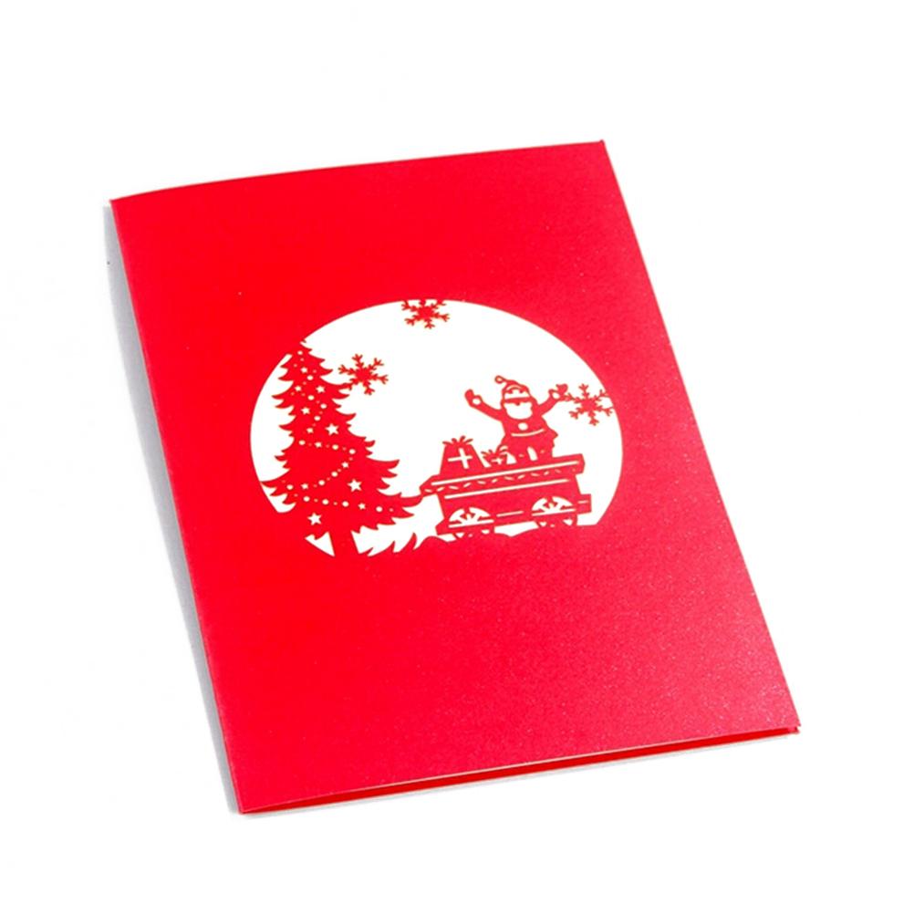 Merry christmas pop up xmas tree festival font b greetings b font font