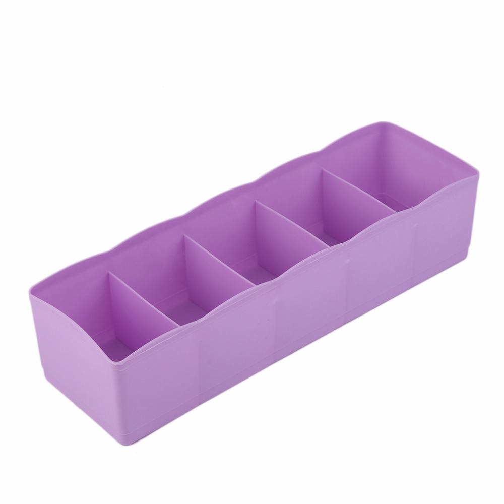 Five Grids Multifunction Underwear Socks Tiny Things Storage Box Plastic Finishing Box Drawer Desk Bed Cabinet(China (Mainland))