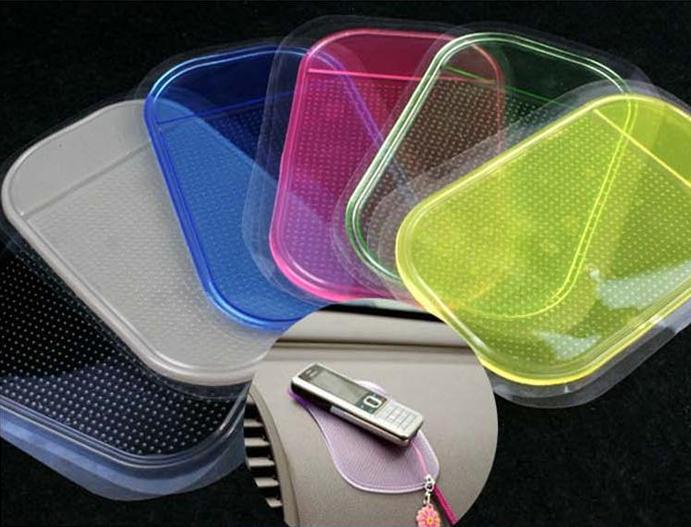 Free Shipping Sticky Pad Re-Useable Washable Anti Slip Mat / non slip pad for car dashboard 1000 pcs/lot(China (Mainland))