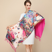 2016 Fashion Designer Ladies Big Scarf Women Brand Wraps Hot-Sale Real Double-deck Thickened Brushed Autumn Winter Shawl Scarves(China (Mainland))