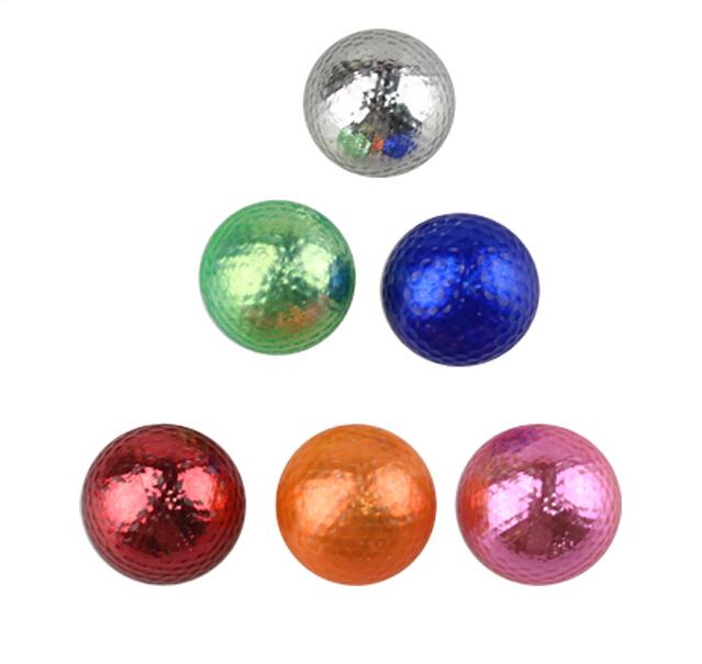 Wholesales 12pcs/dozen beautiful Colorful Golf Ball With Two Layer Driving Range Training Golf Balls Free Shipping(China (Mainland))