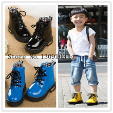 NEW 2015 Fashion Children s Martin boots Kids Ankle boots Spring Autumn Boys Girls shoes Riding