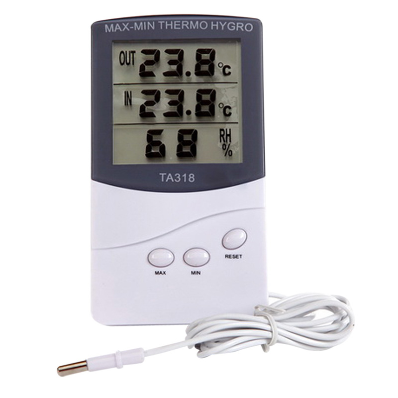 Indoor Outdoor Digital LCD Thermometer Hygrometer Temperature 12.5 x 7.0 x 1.92cm -50 to 70 Centigrade Termometros Digitales<br><br>Aliexpress