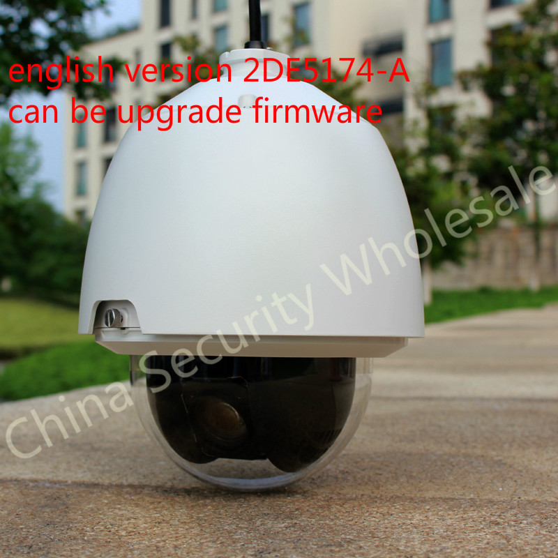 DS-2DE5174-A original english version outdoor PTZ camera 1.3MP 20x Optical Zoom 12X Digital Zoom 3D speed dome camera(China (Mainland))