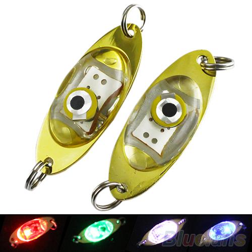 Гаджет  LED Deep Drop Underwater Eye Shape Fishing Squid Fish Lure Light Flashing Lamp  None Спорт и развлечения
