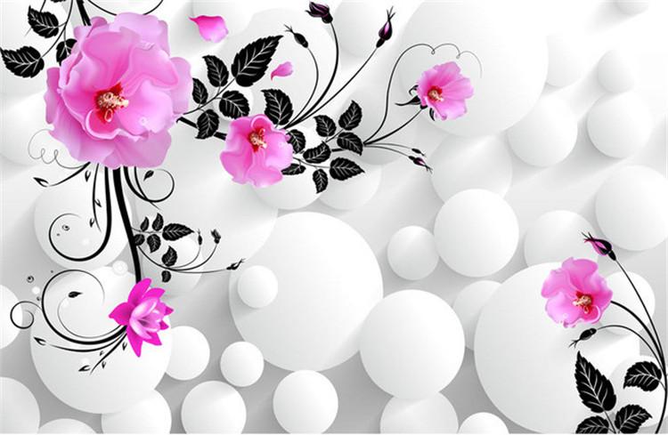 Online Buy Wholesale wallpaper mural rose flowers 3d from  : Free Shipping Ultra HD font b 3D b font stereoscopic font b rose b font font from www.aliexpress.com size 750 x 489 jpeg 90kB