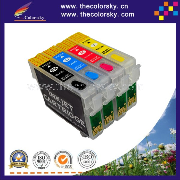 (RCE1331) refillable refill ink cartridge for Epson T1331 - T1334 T133 T 133 BK/C/M/Y Stylus T22/T25/TX120 (with ARC chip)