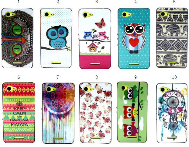 SGP Bumblebee NEO Hybrid Cover Case 2 in 1 Soft TPU + Hard PC Flower cute owl For Sony Xperia E3 / Dual D2203 D2206 D2243 D2202(China (Mainland))