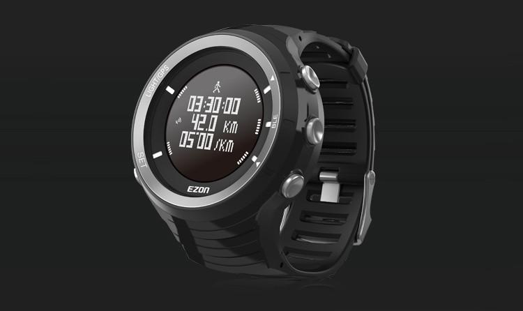 ถูก EzonนาฬิกาG3มืออาชีพกลางแจ้งบลูทูธจีพีเอสวิ่งนาฬิกาที่มีอัตราการเต้นหัวใจ,เครื่องวัดระยะสูง,บารอมิเตอร์ฟังก์ชั่น