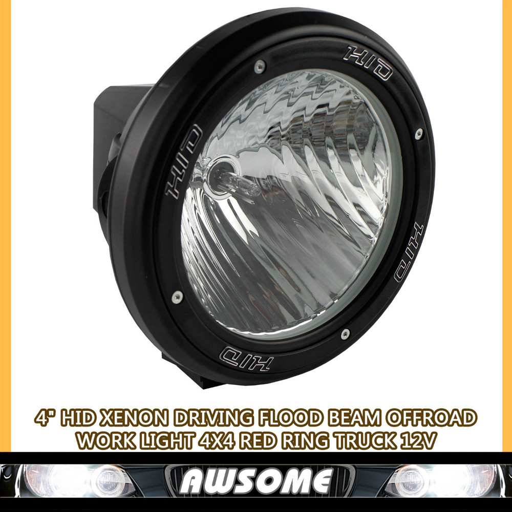 """12V 35W 4"""" HID Drive Light Motorcycle SUV Offroad Tractor 4x4 Fog light HID Work Light External Light Save for SUV Truck ATV(China (Mainland))"""