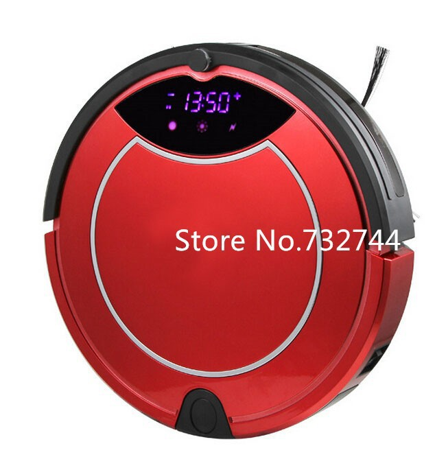 2015 Multifunction Robot Vacuum Cleaner with wet cleaning Self-Charge Home Remote Control Two Side Brushes Two Bristle Brushes(China (Mainland))