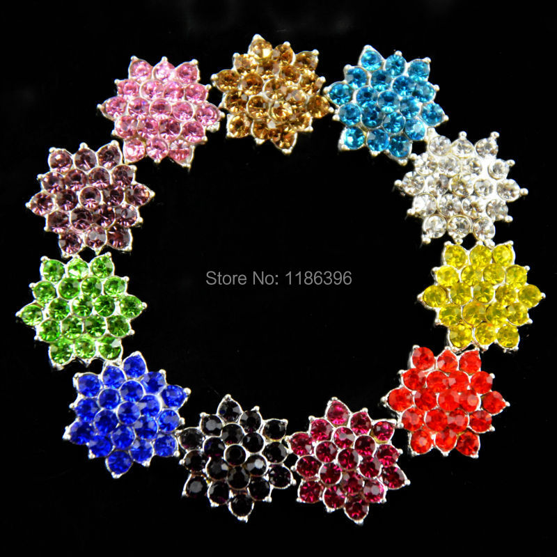 20pcs/lot 18mm Metal Rhinestone Button for Girl Hair Flower Center Wedding Invitation Embellishment Scrapbooking Accessories(China (Mainland))