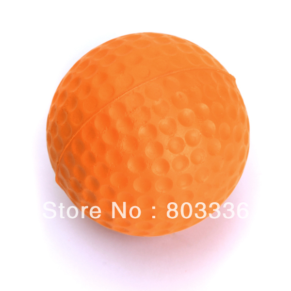 Free Shipping 10pcs PU Golf Ball Golf Training Soft Foam Balls Practice Ball - orange(China (Mainland))
