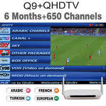 Hot Sale Android French Arabic font b IPTV b font Box Free 6 months 600 Live
