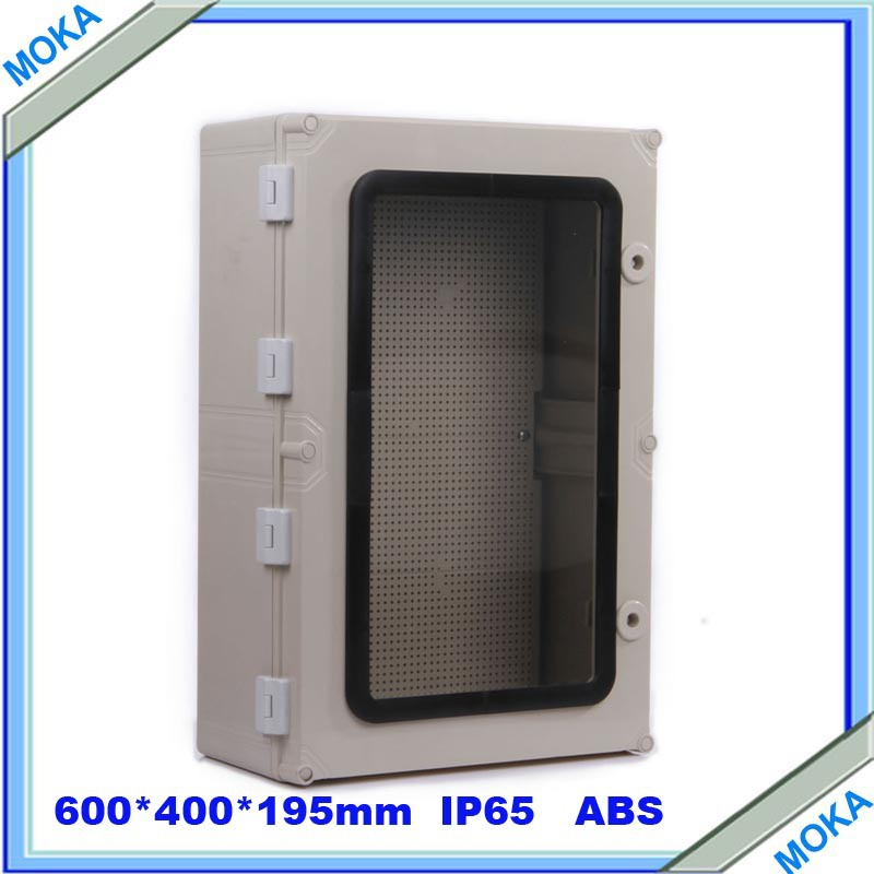 Quality Product ABS Material Transparent Cover IP65 Standard waterproof plastic enclosure box 600*400*195mm(China (Mainland))