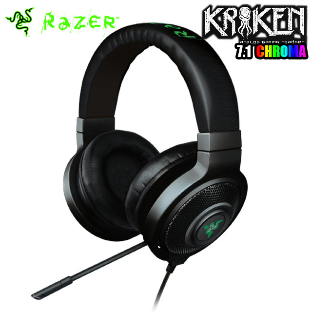Original Razer Kraken 7.1 Chroma Surround Sound Gaming Headset Advanced 7.1 virtual surround sound engine Enhanced digital Mic(China (Mainland))