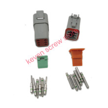 Buy 5 sets Kit Deutsch DT 6 Pin Waterproof Electrical Wire Connector plug Kit DT06-6S DT04-6P,14 GA for $22.75 in AliExpress store