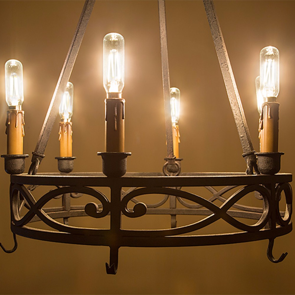 2W 4W,Retro LED Filament Bulb,T25/T8 Tubular Style,E12 E14 Base,Cool Warm White,Dimmable
