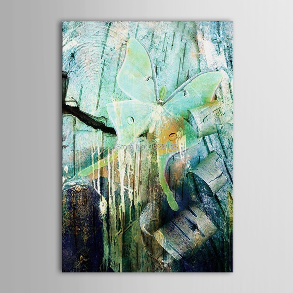 Bar dining room wall decor modern art blue old memory for Dining room wall art on canvas
