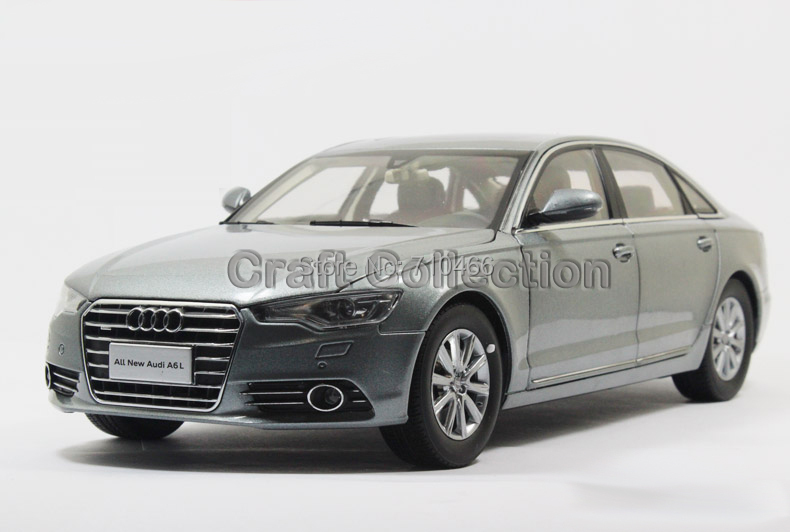 Rare!! Iron Grey Car Model New Audi A6L A6 2012 Diecast Model Car Luxury Vehicle Festival Gifts(China (Mainland))
