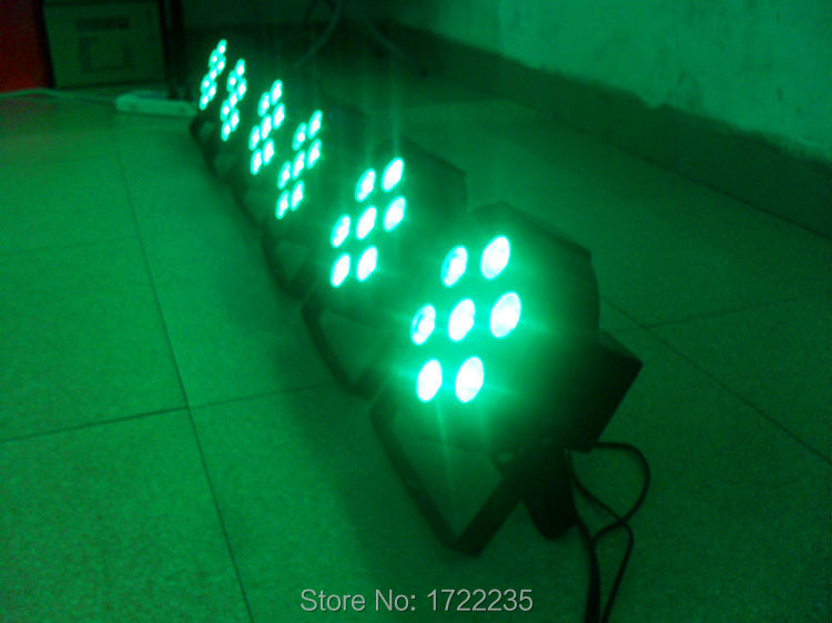 Hot selling High Power 7x9w RGB Tri DMX Wash Led Flat Par ligt DJ Disco KTV No Noise Free Shipping(China (Mainland))