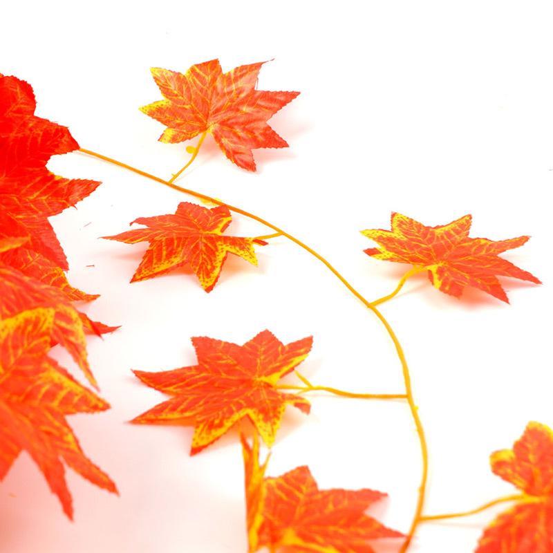 7 54ft Artificial Ivy Red Leaf Garland Plant Vine Fake Foliage Flower Home Decor 64779
