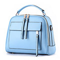 Practical Bag 2016 Fashion New Small Shoulder Bag Front Zipper Patch Pocket Solid Casual Bag Women