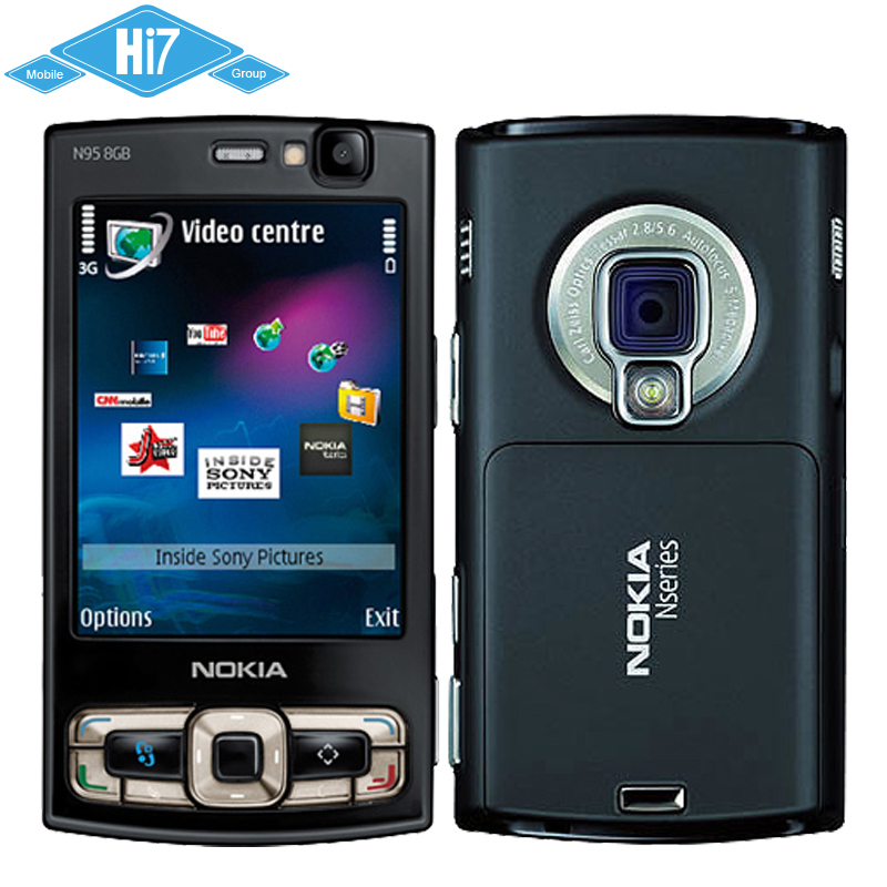Unlocked Original Nokia N95 8GB Internal Wifi GPS 5MP 2.8'' Screen WIFI 3G Mobile Phone Free Shipping 12 Months Warranty(China (Mainland))