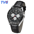 2016 Mens Quartz watches TVG Brand Latest Fashion Men Stainless Steel Leather Strap Casual Male Analog