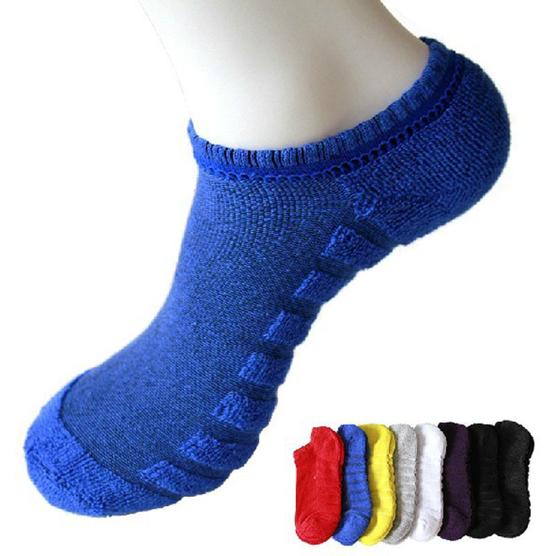 New Arrival Sport Socks Super Absorbent Men Sox Air Cushion Athletic Sock Colorful Cute Cotton Uomo Meias 12 Pieces/Lot (6Pairs)(China (Mainland))