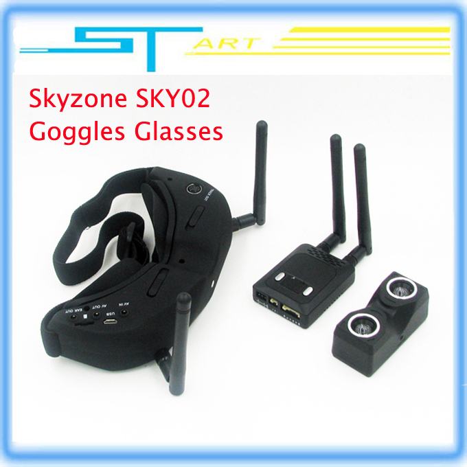 Skyzone SKY02 V2 AIO 3D FPV 32CH 5.8G Diversity receiver Goggles Built-in 3D/ 2D mode head tracking and camera Low shipping<br><br>Aliexpress