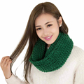 New Design Fashion Women Winter Warm Infinity 2 Circle Cable Knit Cowl Neck Long Scarf Shawl