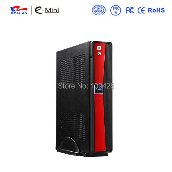 Realan Red Mini ITX Micro ATX Fashion PC Case E- 2020B with Power Supply(China (Mainland))