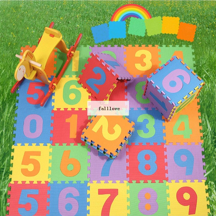Environmental 10PCS/lot Educational Kids Game Blankets Baby Number Soft Foam Play Puzzle Pad Mats 0-3 years B26(China (Mainland))