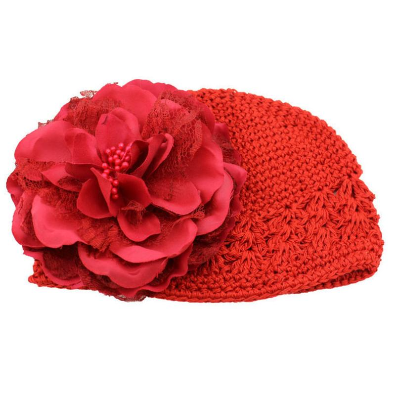 newborn photography prop Flower Toddlers Infant Baby Girl Lace Hair Band Headband Headwear Hat Crochet baby hats for girls touca(China (Mainland))
