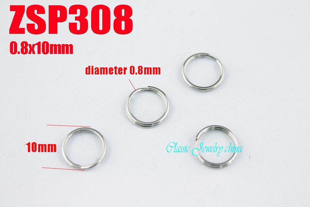 0.8x10mm stainless steel  key-ring Key Chain jewelry DIY accessories  parts 1000pcs ZSP308<br><br>Aliexpress