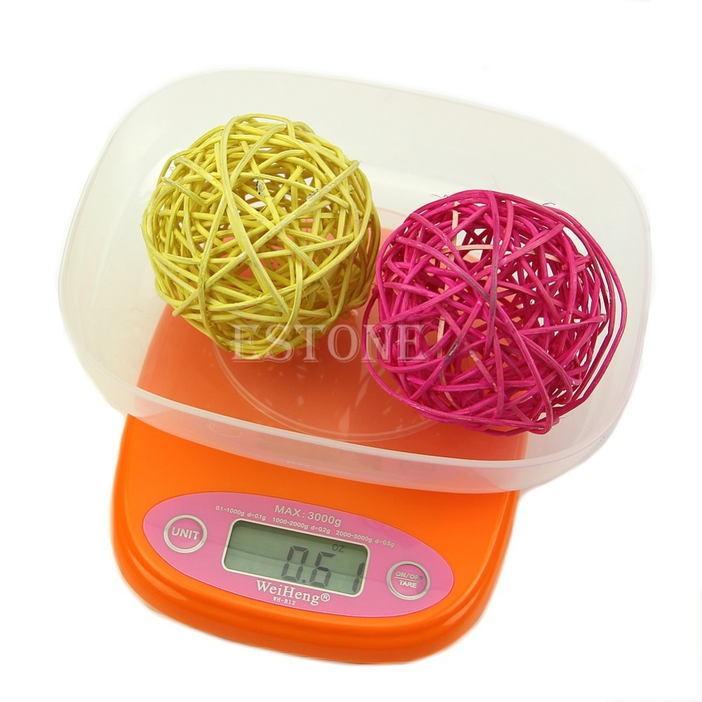 Free Shipping New Compact 3Kg x 0.5g Precision Digital Kitchen Scale Food / Postal /Jewelry<br><br>Aliexpress