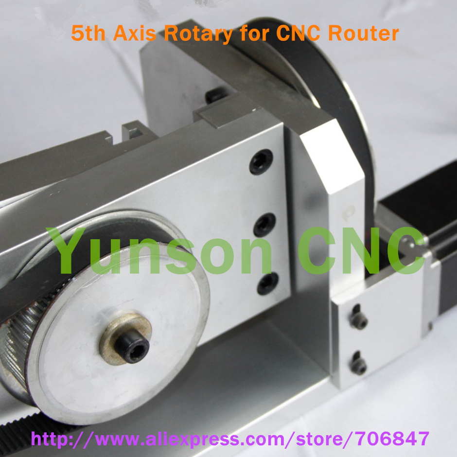 5th axis rotary axis with nema23 stepper motor for cnc for Cnc rotary table with stepper motor